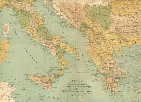 Map italy in french