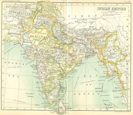 Map indian empire
