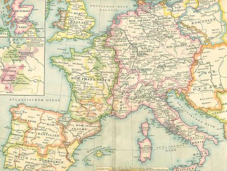 Map germany in german