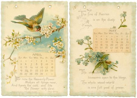 Green Paper: Antique Calendar pages