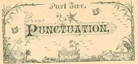Chapter headings punctuation