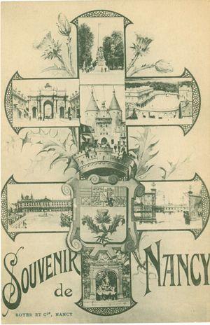 Postcard souvenir nancy 1
