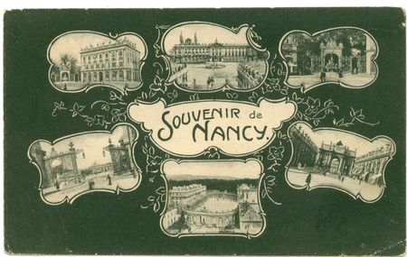 Postcard souvenir nancy