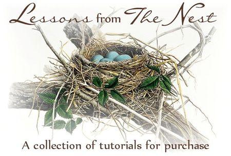 Feathered nest banner tutorials