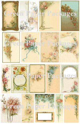 Holy cards collage sheet mktg