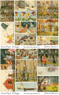 Science stories collage sheet both