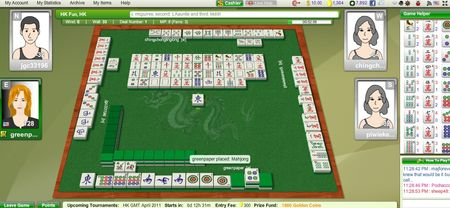 Mahjong screen