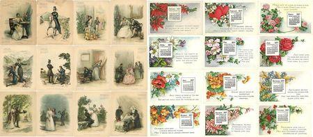 Calendar lucille postcard