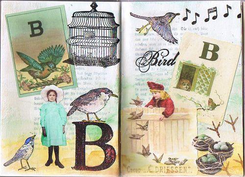 Marion Bockelmann - letter B pages w Logomachy images