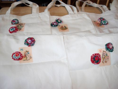 Sally's Holiday tote bags